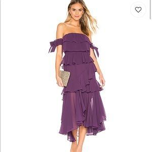 Misa Isadora Dress in Purple